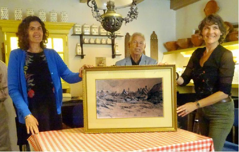 Tekening Wijsmuller geschonken aan Museum Noordwijk